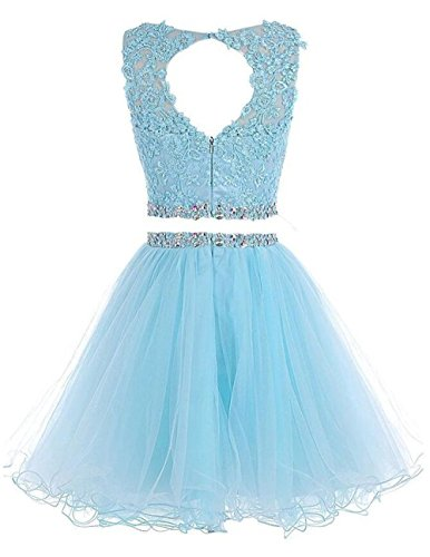 Appliques Lace Homecoming Dresses Short Grey Dress Two Beaded Henglizh Pieces Prom EgHPwq6xf