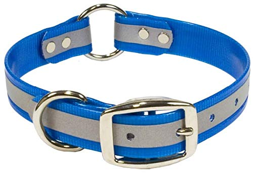 - Blue Reflective Dog Collar with Heavy Duty Center Ring | for Small, Medium, Large, and XL Dogs