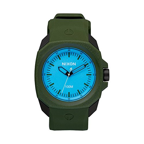 nixon-ruckus-blue-dial-mens-green-rubber-watch-a3491536