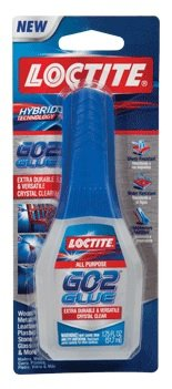 Loctite Go2® Glue Hybrid Technology. Extra Durable & Versatile. Dries Crystal Clear.