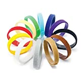 """Image of AsyPets 12 Colors Adjustable Puppy ID Bands Collars, Soft & Reusable Puppy Identification ID Collars, 13.77"""" x 0.39"""" (35 cm x 10 mm)"""