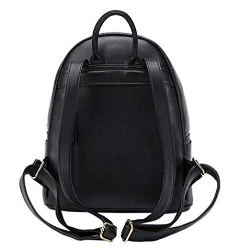 à PU WenL Cuir Personnalisés Black En Fashion Sac Sacs Dos XwraqnrP5