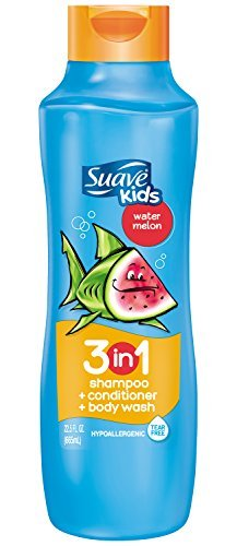 Suave Kids 3-in-1 Shampoo, Conditioner & Body Wash, Wacky Melon 22.5 oz (Pack of 5)