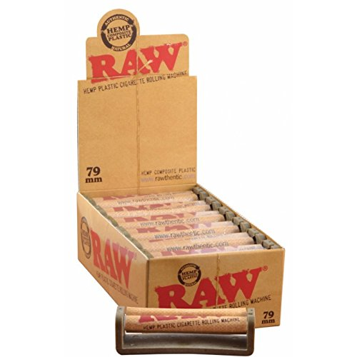 RAW Natural Hemp Composite Roller Eco Plastic 79mm Rolling Machine - 1 1/4 and 1 1/2 Size (12) by Raw