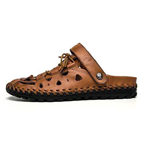 Zapatillas Baotou Sandalias De Playa Hombres Brown Playa De para wwI01q