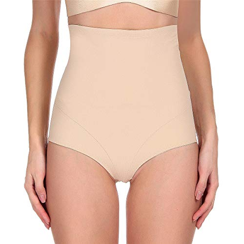 Fianmy Womens Body Shaper High Waist Seamless Shapewear Butt Lifter Tummy Control Panty Slim Waist Trainer (X-Large, Beige)