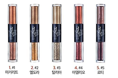 Touch in Sol Metallist Liquid Foil and Glitter Eye Shadow Duo (Eye Gloss) (2. Eldora)