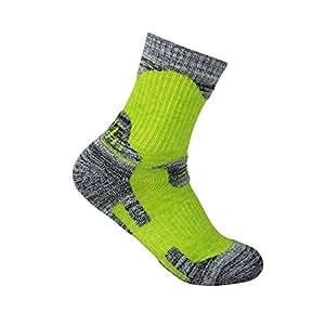 YUEDGE 3 Pairs Women's Antiskid Wicking Multi Performance Cushion Crew Socks Year Round(Green)