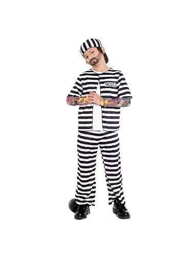 [Paper Magic Group Prison Playa Costume,Small (4-6)] (Jail Costume For Kids)
