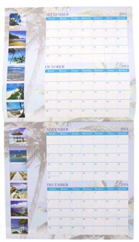 Calendar Design Price : Wall calendar month paradise beaches design by