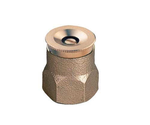 Brass 2 Strip - Orbit 2 Pack Center Strip Spray Pattern Brass Shrub Head with Brass Nozzle