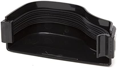 BLACK 130 x 70mm Left Polypipe ROG07B BLACK OGEE Extra Capacity Gutter External Stopend