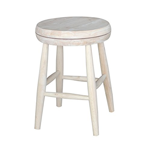 International Concepts 1S-818SW Swivel Stool Barstool, 18 inch, (Concepts Swivel)