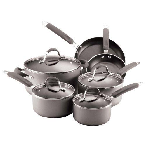 Farberware Enhanced Aluminum Nonstick 10-Piece Cookware Set,