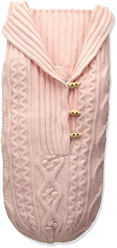 Knit Baby Layette (Toby & Company Baby Nygb Cable Knit Button Down Snuggle Sack, Hint Of Pink, Newborn)