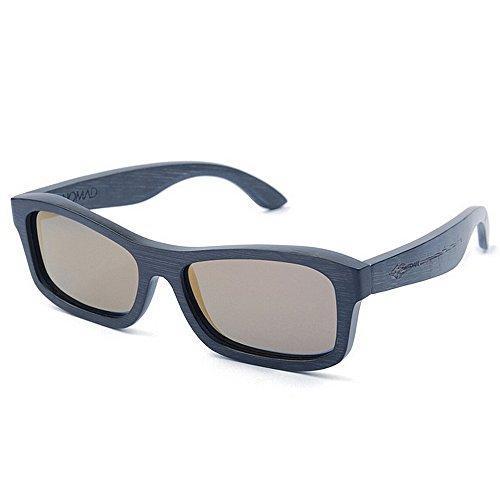 deportes la hechas del madera Adult sol polarizadas hombres de los de color de a mano calidad Eyewear gafas de lente de de de TAC Protección sol Gafas protecció alta pequeña la de los de azul cuadrada qn8zZFx8wX