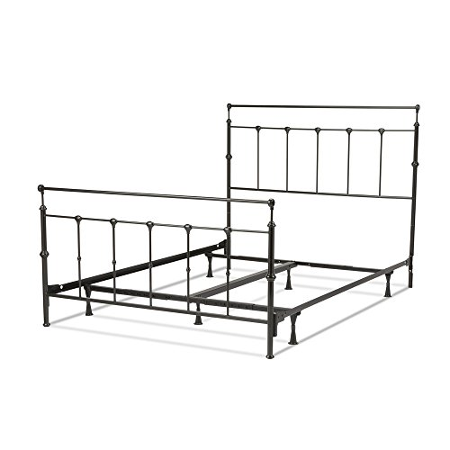 Fashion Bed Group Winslow Complete Metal Bed and Steel Support Frame with Castings and Straight Top Rails, Mahogany Gold Finish, Full