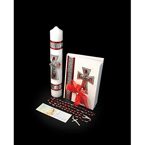 Catholic & Religious Gifts, Confirmation Gift Set Silver English by SF001 (Image #1)