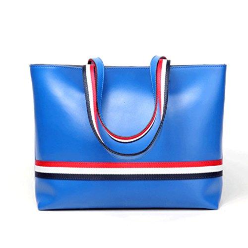 Main à en Cuir Sac Linge Noir Taille de Couleur Bleu à bandoulière A en à Handbag à Sacs Taille Grande Sac Sac à Bleu Seau Sac bandoulière Cuir S q5EwvvtI