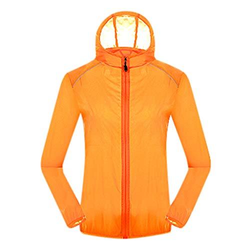 - Women Men's Cycling Bicycle Ultra Light Windbreaker Windproof Lightweight Jacket Hiking Orange