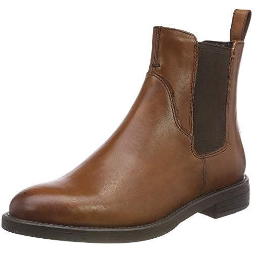 Womens Vagabond Amina Elastic Leather Tan Festival Casual Chelsea Boot big discount
