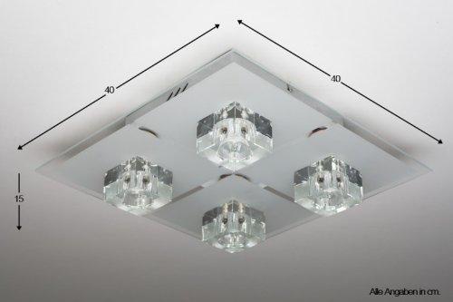 Lampada da soffitto led con telecomando plafoniera lampadario ...