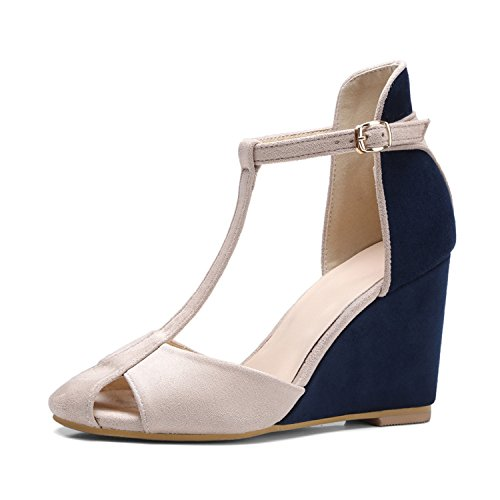 Pumps Women Red Blue Heel Stewart Shoes Red 39 Size Beverly Strap Cutout Shoes Heels Wine Pumps Party High 34 T Wedge z6Etn