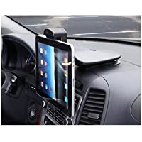 Kropsson P850 Car Cradle Mount Holder For Apple iPhone, iPad, Samsung Galaxy, Motorola, Blackberry, Smartphone, Tablet PC, Navigation, Size 150~190mm, Car dashboard mount Type, One Touch Auto Release, 360° Rotation, Strong Suction Force in -40°C ~ +80°C of Gel-Pad