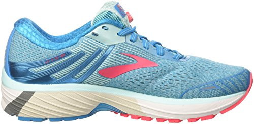 Brooks Women's Adrenaline GTS 18 Running Shoes, Blue Turquoise (Blue/Mint/Pink 1b408)