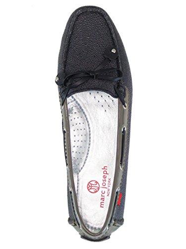 Echtes Leder der Frauen hergestellt in Brasilien-beiläufigen Cypress-Hügel-Fahrer Marc Joseph NY Fashion Shoes Schwarz