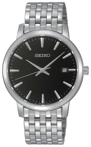 Seiko-Black-Dial-Stainless-Steel-Mens-Watch-SGEF89