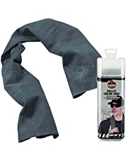 Ergodyne Chill Its 6602 Cooling Towel, Long Lasting Cooling Relief, Gray