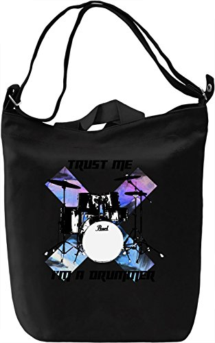 Trust me I'm a drummer Borsa Giornaliera Canvas Canvas Day Bag| 100% Premium Cotton Canvas| DTG Printing|