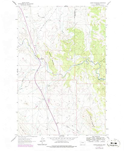 YellowMaps Coburn Mountain MT topo map, 1:24000 Scale, 7.5 X 7.5 Minute, Historical, 1961, Updated 1979, 26.9 x 22 in - Paper