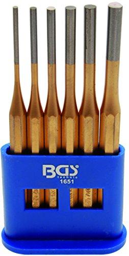 BGS Splintentreiber-Satz, 3-8 mm, 150 mm lang, 6-teilig, 1651