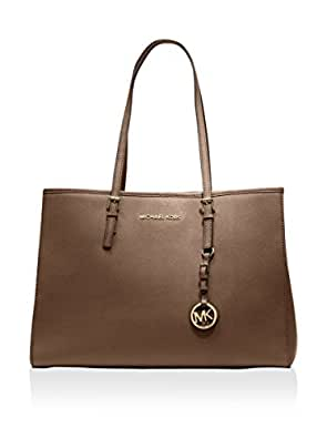 Michael Kors Jet Set Travel Large Ew Tote Dark Dune