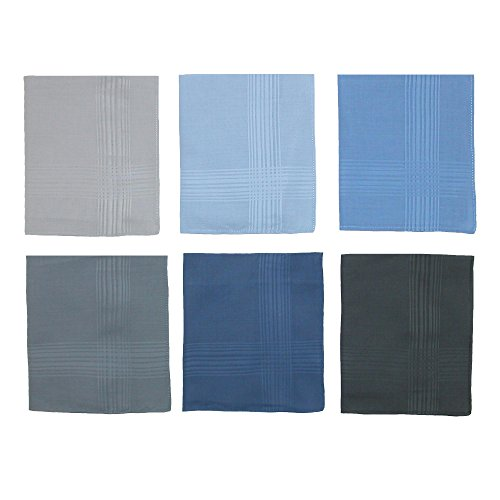 Umo Lorenzo Men's Cotton Multi-Color Dress Handkerchief Set (Pack of 6) by Umo Lorenzo (Image #3)
