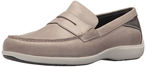 Rockport Men's Aiden Penny Shoe, Rocksand, 8.5 W (Rockport Driving Shoes)
