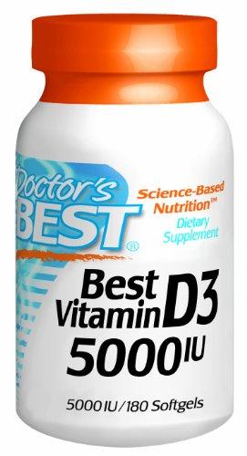 Meilleur docteur vitamine D3 5000iu, gels mous, 180-Comte