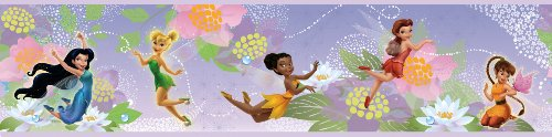 (RoomMates RMK1492BCS Disney Fairies Peel and Stick Border)