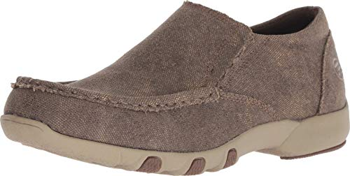 - Roper Johnnie Womens Brown Canvas Metallic Slip-On Shoes 8.5