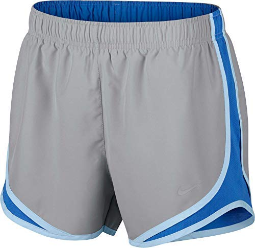 NIKE Women's Dry 3'' Tempo Running Shorts, (Wolf Grey/Signal Blue/Wg, Medium) by Nike