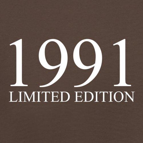 1991 Limierte Auflage / Limited Edition - 26. Geburtstag - Herren T-Shirt - Schokobraun - XS