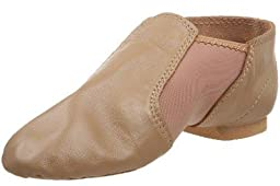 Dance Class Child/youth Unisex Caramel Neoprene Gore and Leather Slip on Jazz Boot (2youth)