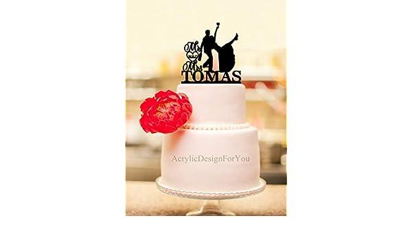 Decoración para tarta de novia borracha, decoración personalizada ...