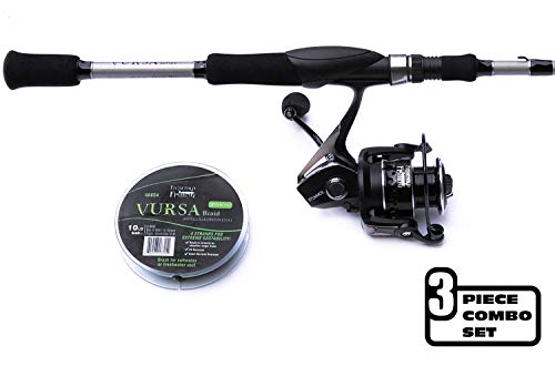 Fitzgerald Fishing Spinning Rod-and-Reel Combo – Stunner Spinning Reel + Vursa Spinning Rod + Braided Fishing Line for The Perfect Holiday Fishing Gift