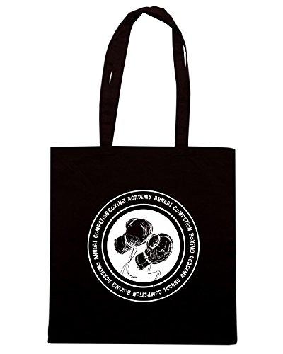 T-Shirtshock - Bolsa para la compra T0769 boxing accademy arti marziali Negro