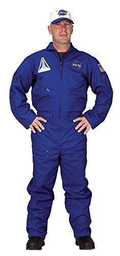 GTH Men's Space Flight Suit Astronaut Uniform Theme Party Dress, Large (Size Theme Space Dresses Plus)