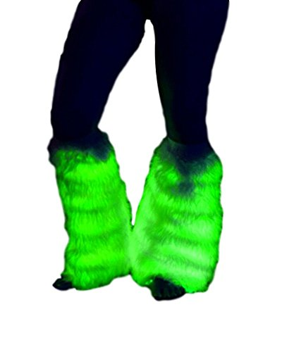 TrYptiX Light up LED Fluffies Leg Warmers (One Size, With Wireless Remote)