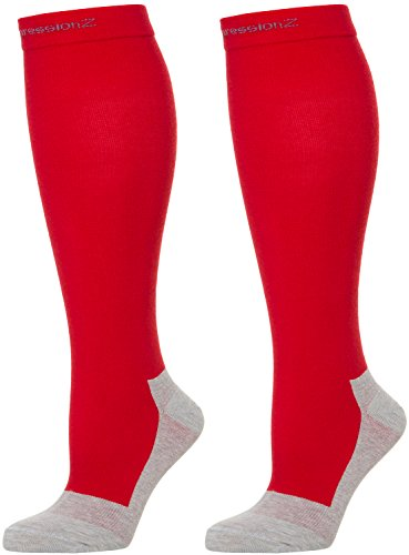 Men/Women Knee High Compression Socks Medium Red